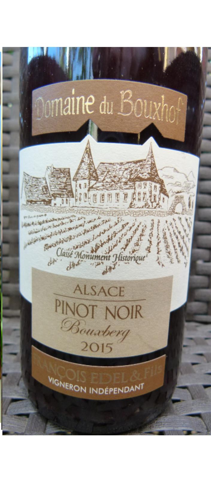 PINOT NOIR 2015 Bouxberg – Rouge d'Alsace