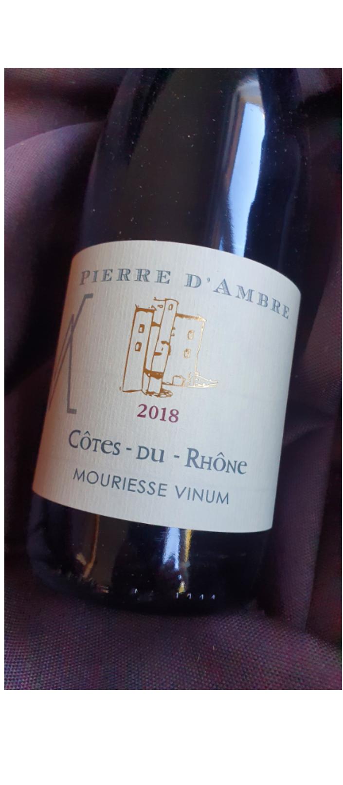 AOP  CÔTES-DU-RHÔNE  Rouge  2019 Cuvée PIERRE D'AMBRE