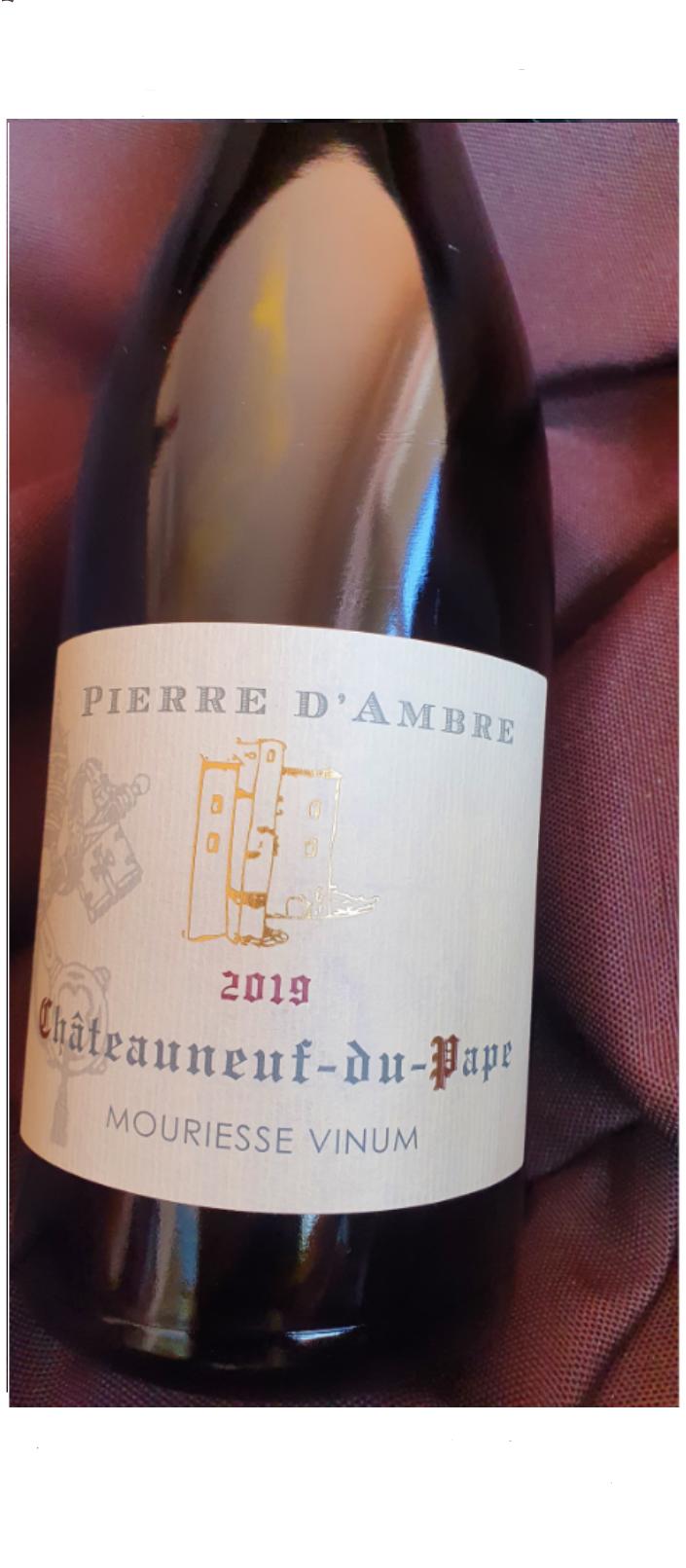 AOP CHATEAUNEUF-DU-PAPE ( Cru) PIERRE D'AMBRE 2017 - 75 cl