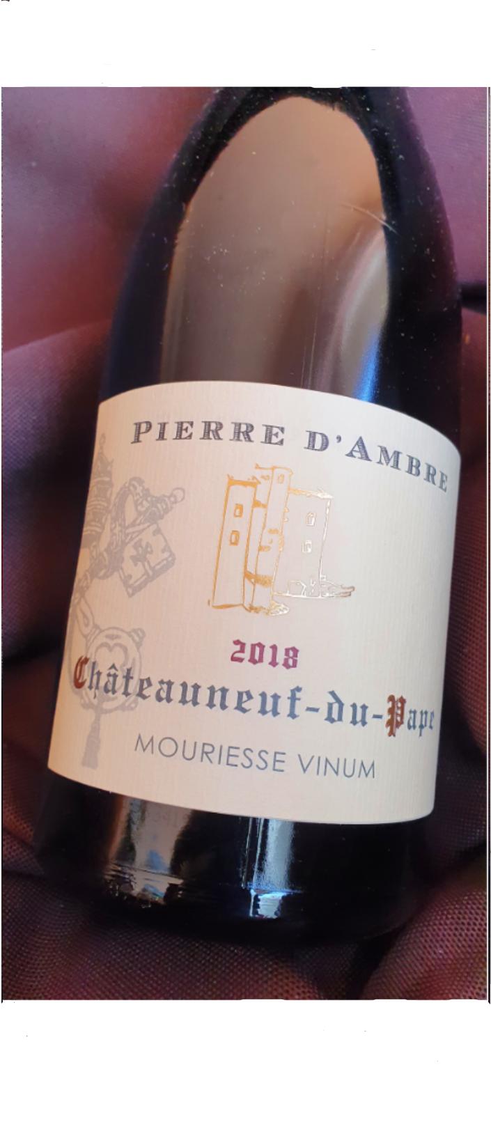 AOP  CHATEAUNEUF-DU-PAPE ( Cru) PIERRE D'AMBRE 2018 - 75 cl