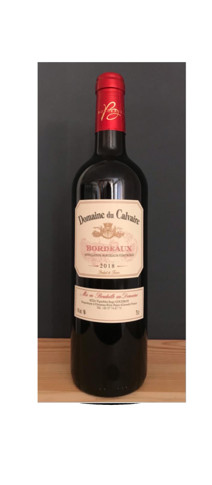 AOC Bordeaux rouge 2016 Domaine du Calvaire